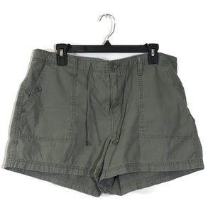 NWOT CALVIN KLEIN olive green jean shorts